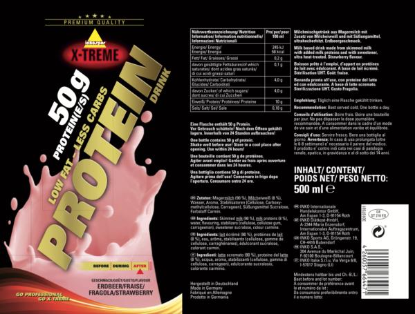 Protein drink jagoda